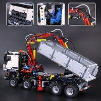 L модели совместимы с Lego l20005 3245 шт. arocs Модели Building Наборы Конструкторы Игрушечные лошадки хобби для Обувь для мальчиков Обувь для девочек