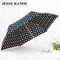 JESSE Travele KAMM 165G Compacto de tres Plegable Lluvia luz De Aluminio paraguas Rojo Amarillo Mujeres de Los Hombres de alta calidad de la manera barata