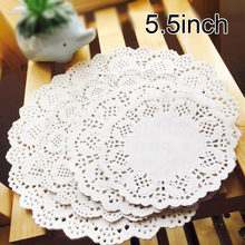 500pcs 5.5 inch 14cm Round Lace Paper Doilies White Cake Paper Mat Party Wedding Christmas Table Decoration Pad(Hong Kong,China)