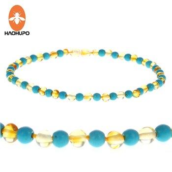 design di qualità 280d2 668eb HAOHUPO Collana di Ambra Naturale 12 ''-24'' Lucido Ambar Perline ...