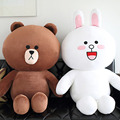 50CM Line Friends Brown Bear Plush Toys Cony Rabbit Plush Stuffed Doll for Girl Friend Kids Gift