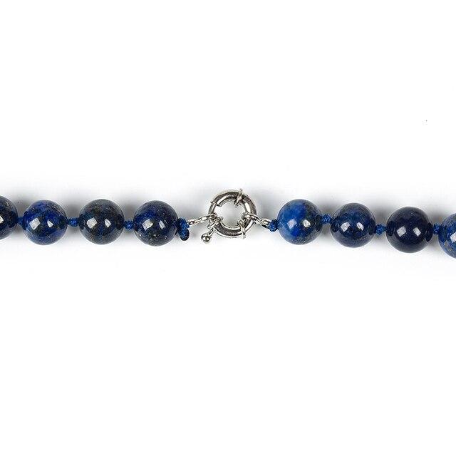 Collier Pierres Porte-Bonheur Long Lapis Lazuli