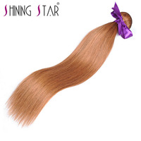 Shining Star Brazilian Straight Human Hair Bundles Color 30 Hair Weave Non Remy 10 26