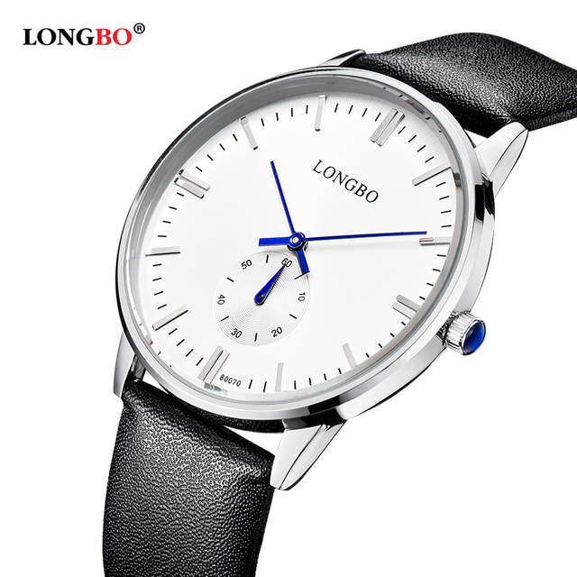 LONGBO Luxury Brand  Leisure Men Wrist Watch Couple Watch Military Quartz Leather Band Waterproof 80070