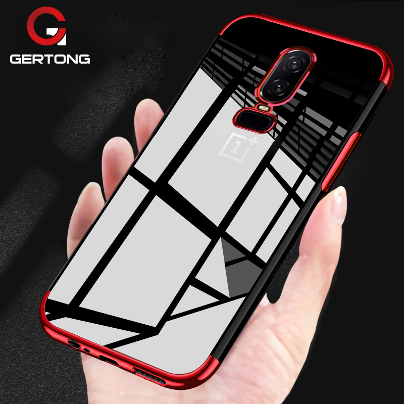 Luxury Soft TPU Plating Phone Case For <font><b>Oneplus</b></font> 6 5T 5 T Oneplus6 1+6 One Plus 6 <font><b>A6000</b></font> Conque Transparent Cover Protective Shell image