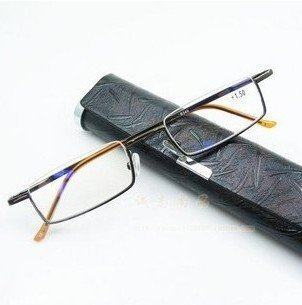 Fashion Half Frame Resin Reading Glasses