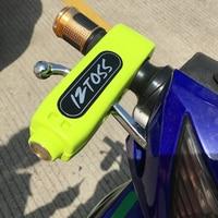 Universal Motorcycle Handlebar Lock Aluminium CNC Motorbike Scooter Handle Lock Brake Throttle Grip Lock Theft Protection