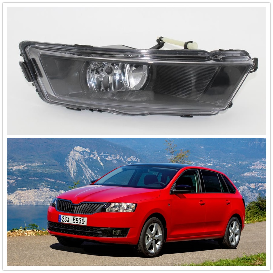 For Skoda Rapid Spaceback 2013 2014 2015 2016 2017 Car-styling Front Bumper Halogen Fog Light Fog Lamp Right Passenger Side free shipping for vw touareg 2015 2016 new led car fog light fog lamp right side passenger side