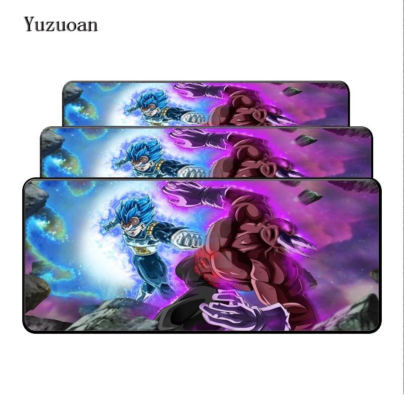 Yuzuoan900x400X3mm Dragon Ball длительных игровых большой замок ноутбук края Мышь колодки большой Размеры стол коврик для LOL DOTA Бесплатная доставка