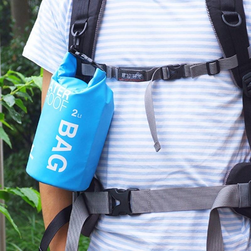 חדש Waterproof תיק 2L קמפינג וטיולים PVC waterbag תיק עמיד במים בחוץ נסיעה Ultralight רפטינג תיק קמפינג יבש שקיות