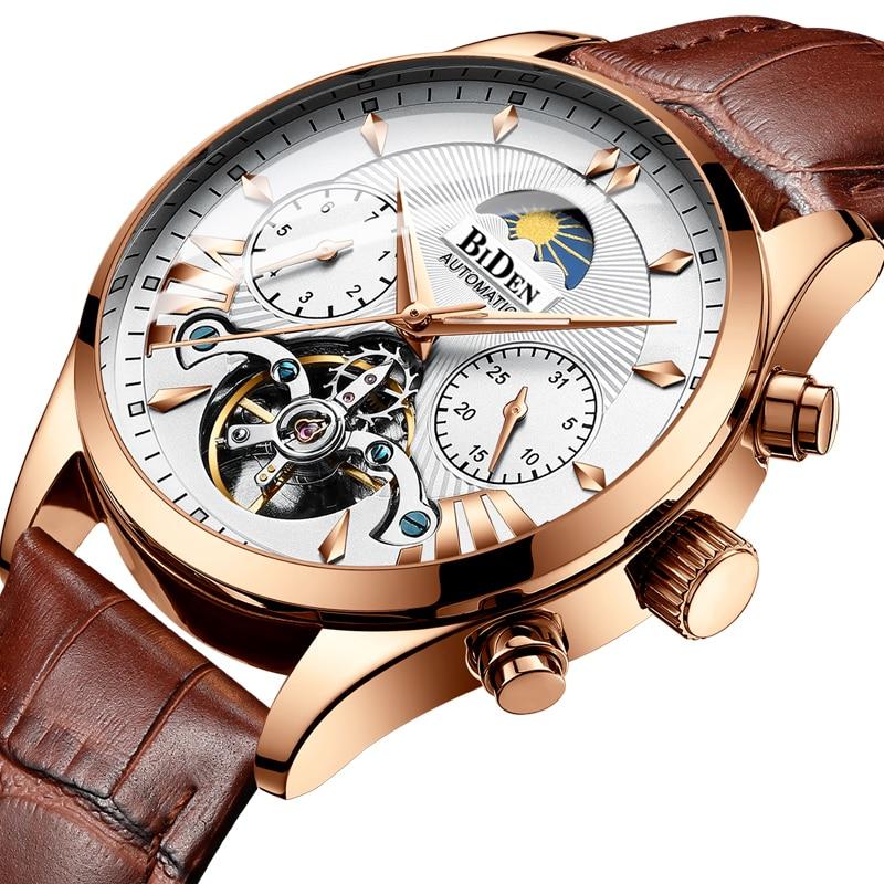 Top Luxury Brand Men Watch Mechanical Tourbillon Fashion Brand Leather Man Sport Watches Mens Automatic Watch Relogio Masculino