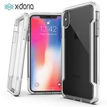 X doria defesa clara caixa do telefone para o iphone x xr xs max grau militar caso testado para iphone x xr xs max capa protetora