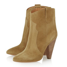 Khaki Women's Boots Popular Shoes Nubuck Leather Height Increasing 8cm 3-style Size 36~41 Women's Shoes Casual Boots