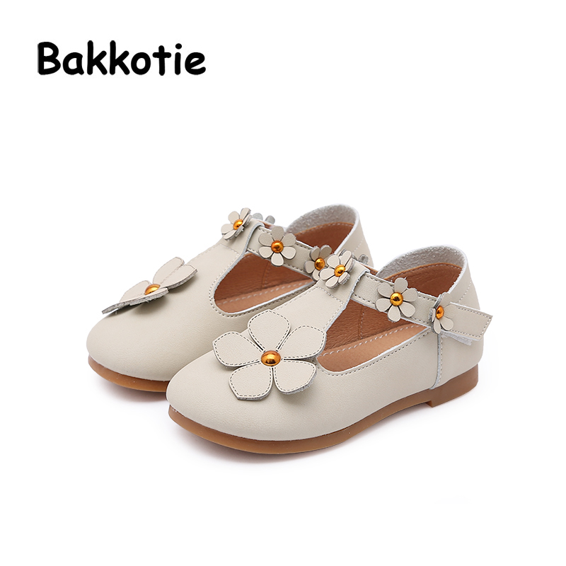 Bakkotie 2018 Spring New Fashion Flower Mary Jane Microfiber Loop Child Baby Casual Princess Shoe Flat Flower kid Brand Girl