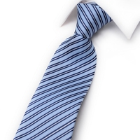 8cm new men's casual business dress is the groom light blue striped work tie