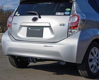 SUS304 Stainless Steel Rear Handle Hatchback Cover Gainish Trim Car Styling Cover Accessories For Prius C