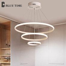 Modern Led Chandelier Outer Shine 5Rings Led Ceiling Chandelier Lighting For Living room Dining room Kitchen Bedroom Luminaires