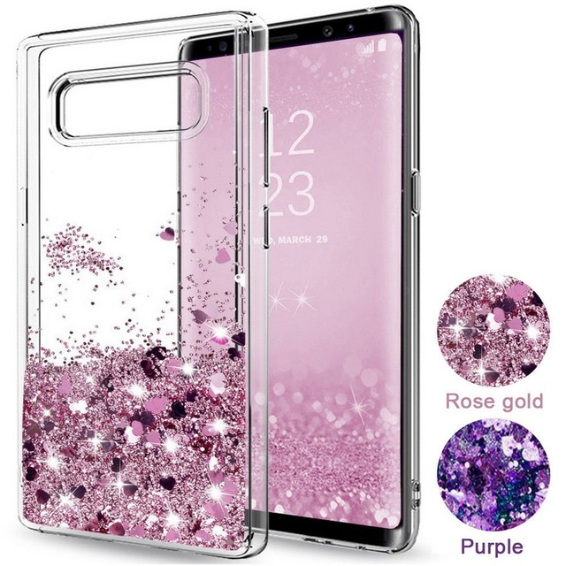online store 3485a cf201 US $2.66 28% OFF|Pink Purple Hearts Dynamic Liquid Quicksand Soft TPU  Shockproof Phone Case For Samsung Galaxy S8 S9 Plus S7 S6 Edge Note 8  Capa-in ...