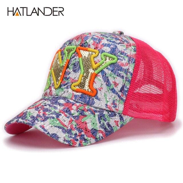 Hatlander Enfants maille casquettes de baseball lettre NY sport chapeau  gorras bébé réglable enfants d  9164ace27a1