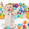 100 pcs Crianças Plástico Colorido Bolas Pit Bola Nadar Oceano Onda Bolas Eco Ao Ar Livre Brinquedos Engraçados Crianças