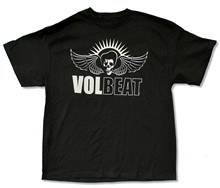 "VOLBEAT ""WHITE SKULL"" BLACK BAND MUSIC T-SHIRT NEW OFFICIAL BAND MUSIC ADULT t shirt custom made"