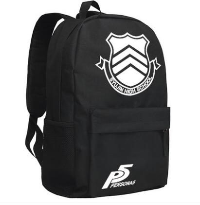Anime <font><b>Persona</b></font> <font><b>5</b></font> Shin Megami Tensei <font><b>Persona</b></font> Protagonist Japanese style school canvas luminous <font><b>backpack</b></font> bag image