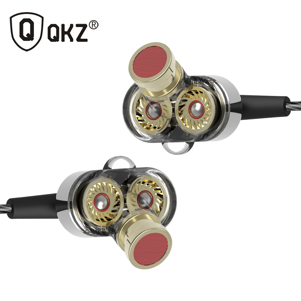 QKZ KD2 In Ear Hifi Earphone 3.5mm Jack Stereo Headset Mobile Fone de ouvido auriculares audifonos earphones gaming headset earphone qkz dm4 in ear earphones dynamic with mic microphone hybrid unit hifi earphone earbud headset fone de ouvido dj mp3