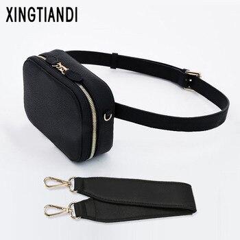 New Women Pu Leather Waist Bag Chest Handbag Round Belt Korean Fashion Style