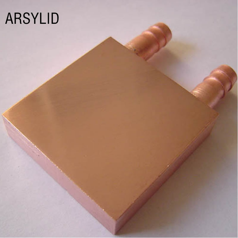 Copper Water Cooling Block 40*40mm Use For CPU Radiator Graphics GPU Water Cooling Block Liquid Water Cooler Heat Sink PC Laptop