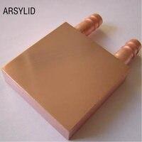 Copper Water Cooling Block 40 40mm Use For CPU Radiator Graphics GPU Water Cooling Block Liquid