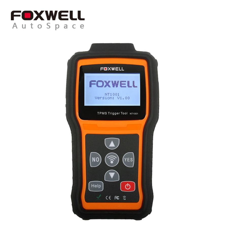 Цена за Универсальный Foxwell NT1001 TPMS триггера инструмент авто шины Давление системы мониторинга декодер ремонт диагностический сканер обновление Бесплатная