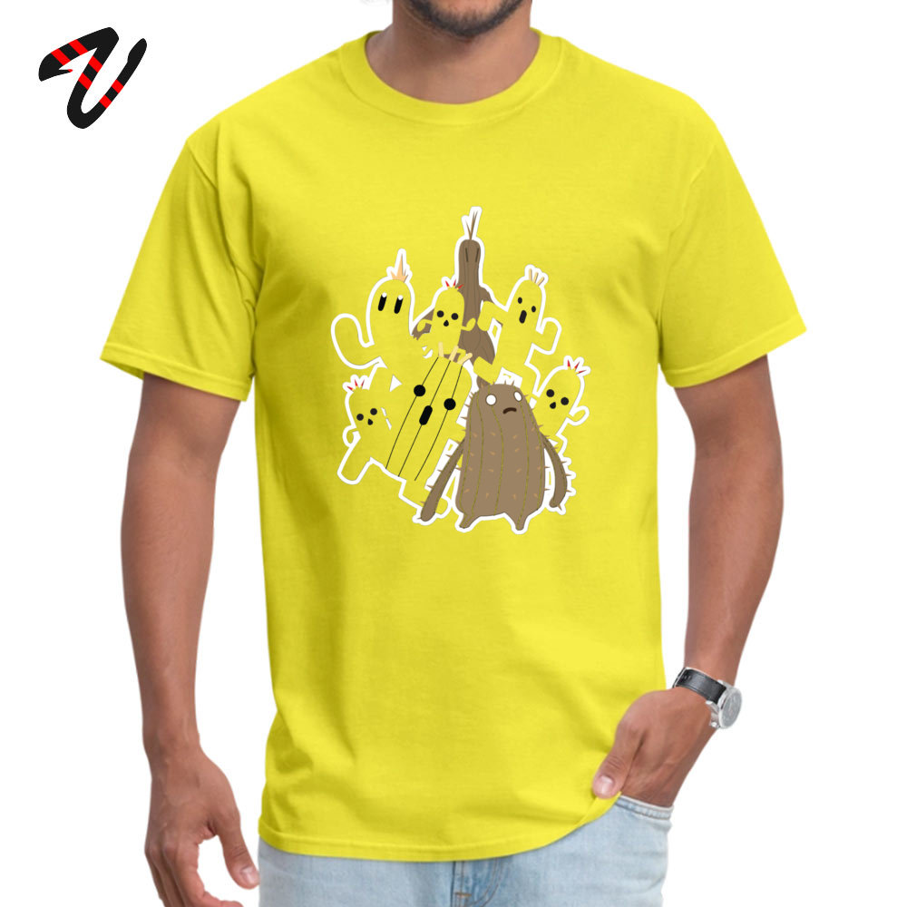 Youth Brand New Summer Tees Crewneck Thanksgiving Day 100% Cotton T-Shirt Casual Short Sleeve Cactuar Tee-Shirts Cactuar16762 yellow