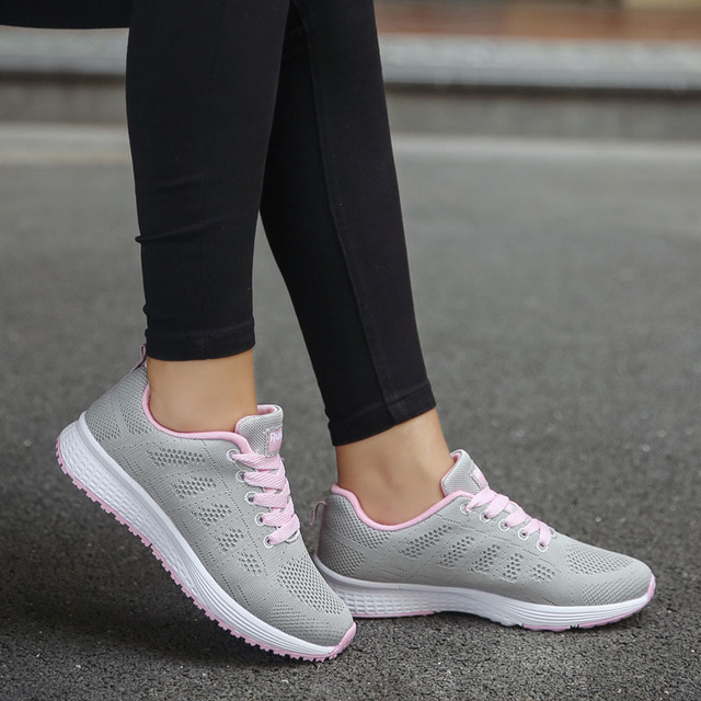 Woman White Platform Trainers Casual Tennis Basket Sneaker
