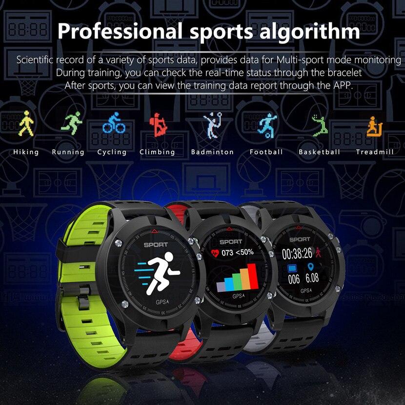 2018 Montre SMART Watch F5 GPS surveillance de la fréquence cardiaque Bluetooth 4.2 température Mesure smartwatch Étanche Multifonction horloge