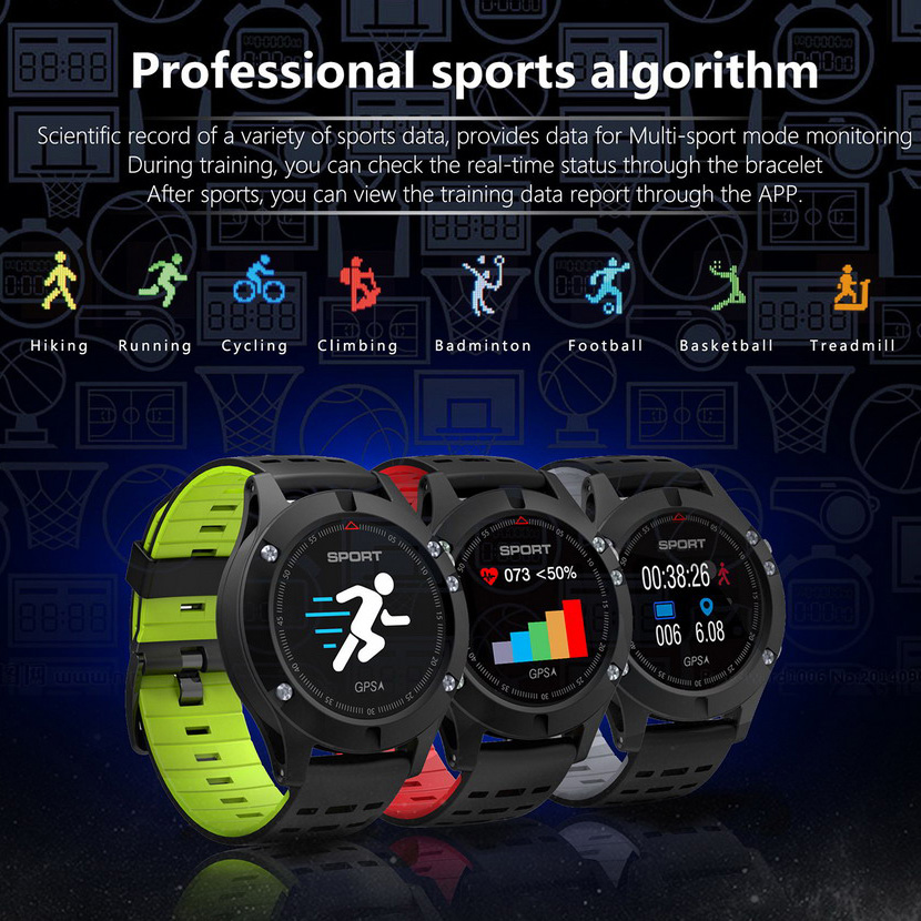 2018 SMART Watch F5 GPS heart rate monitoring Bluetooth 4.2 temperature Measurement smartwatch Waterproof Multifunction clock2018 SMART Watch F5 GPS heart rate monitoring Bluetooth 4.2 temperature Measurement smartwatch Waterproof Multifunction clock