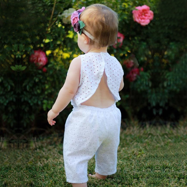 Little Babies Lace Tops with Hallow Out Pants 2018 Summer Childrens Fashion Outfits Kids Clothing Girls Sets