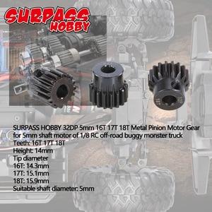 Image 3 - SURPASSHOBBY 32DP 5mm 13T 14T 15T/16T 17T 18T/19T 20T 21T מתכת אברה מנוע ציוד עבור 1/10 1/8 RC באגי רכב מפלצת משאית