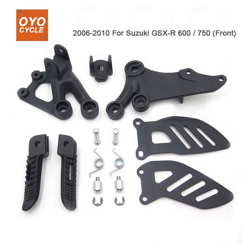 FRONT BLACK FOOT PEG RIDER DRIVER KIT SUZUKI GSXR GSXR600 GSXR750 2010 B-KING
