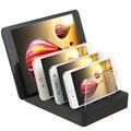 4 Portas USB Hub de Multi Dispositivo de Encaixe Carregador Estação de Carregamento Rápido 24 W para iphone 7 ipad samsung galaxy s7 lg tablet pc xiaomi 5
