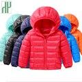 Детские зимние куртки-пуховики для девочек  осенняя теплая куртка с капюшоном и длинными рукавами для маленьких мальчиков  Детская парка  в...