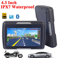 High Quality 4 3 Inch Motorcycle GPS Car GPS Navigation IPX7 Waterproof 8GB Internal Memroy Bluetooth