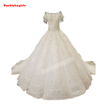 34470 Lace Up Ball Gown Wedding Dress Sleeveless Train