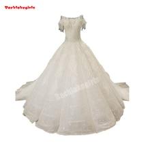 34470 Lace Up Ball Gown Wedding Dress Sleeveless Train