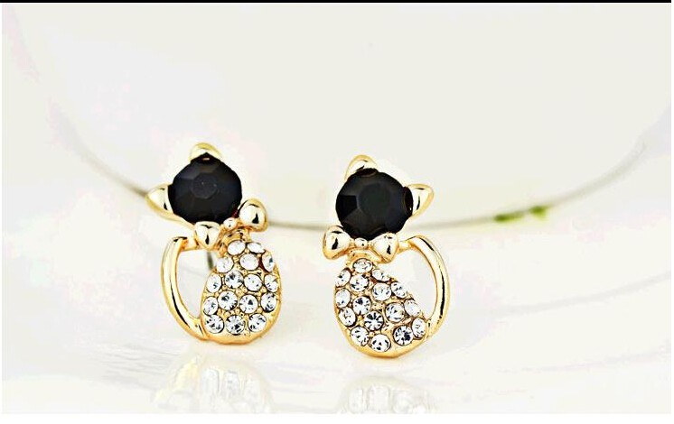 Cat Stud Earrings 1