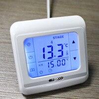 Màn Hình LCD Cảm Ứng Weekly Lập Trình Thermostat Phòng Hệ Thống Sưởi Dưới Sàn Điều Khiển Nhiệt Độ Với Đèn Nền