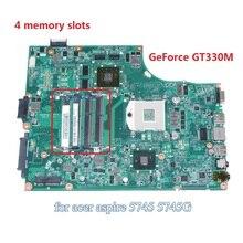 DA0ZR7MB8F0 MBPU306001 MB.PU306.001 For acer aspire 5745 5745G laptop motherboard HM55 GeForce GT330M