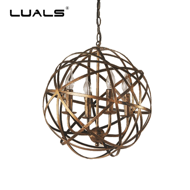 Loft Pendant Lights Retro Industrial Pendant Lighting Creative Theme Restaurant Light Fixtures Iron Round Sphere Hanging Lamp скатерти и салфетки santalino скатерть tess 140х180 см