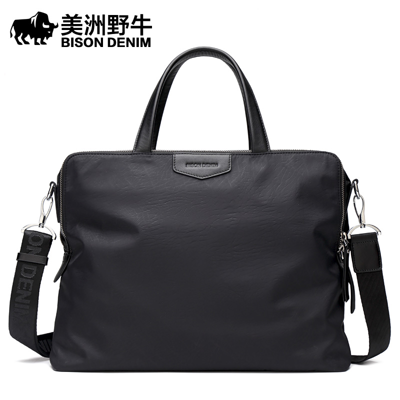 BISON DENIM Brand Handbag font b Men b font Messenger font b Bag b font Business