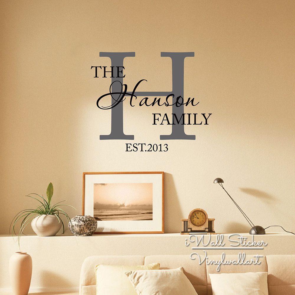 Tree wall decals large personalized family tree decal vinyl wall decal - Family Name Wall Sticker Custom Family Name Wall Decal Personalized Family Name Stickers Cut Vinyl Home