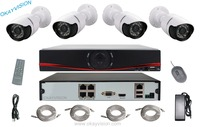 4CH 720P POE NVR Kit Onvif 4 Channel POE NVR Kit Weatherproof Bullet Security IP Camera